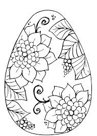 Easter Egg Colouring Pages Free Printable Free Colouring Pages Egg