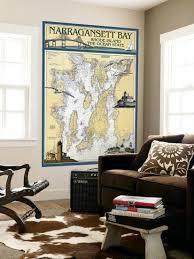 Nautical Chart Wall Mural Narragansett Bay Rhode Island Nautical Chart