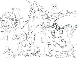 Wild Animal Coloring Pages To Print Free Printable L Desert Ls