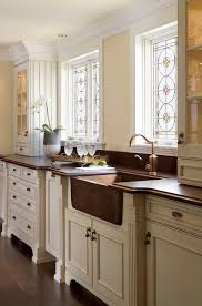 white traditional kitchen copper. Boston Staining Kitchen Cabinets With Traditional Bar Stools And Counter Oil Rubbed Bronze Leaded Glass White Copper N