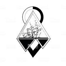 Tattoo Triangle Geomatic Illustration Symbol Style Stock