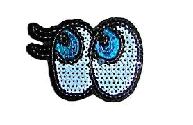 cartoon eyes patch cute cartoon eyes iron on patches cartoon eyes embroidered patch cartoon eyes applique badge patch diy fashion patches