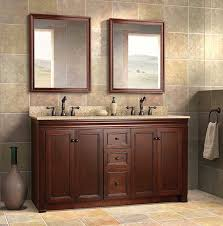 double sink vanity bathroom. dark lacquered freestanding double sink bathroom vanity design with marble countertop and elegant faucet
