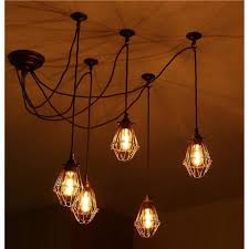 lighting oversized industrial pendant light industrial hanging ceiling lights wire cage light covers light fixture