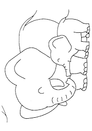 Baby Elephant Coloring Pages With Mom Coloringstar