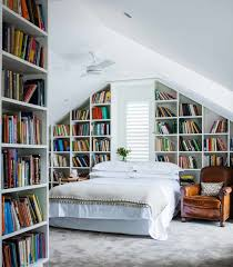 Bedroom: Loft Bedroom Library Decoration - Home Library