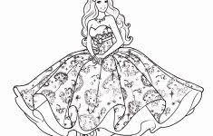 Meisjes Tekeningen Mooi Barbie Kleurplaat Printen Archidev