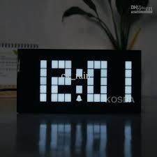 cool office clocks. White Light Led Digital Clock Electronic Wall Bedroom Snooze Alarm Calendar And Temperature Table Cool Clocks . Office