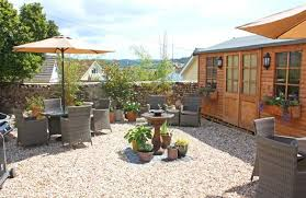 garden furniture and barbecue provided for guests at rose cottage seaton