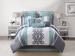 100 gray and white bedding sets 7 piece contemporary metallic