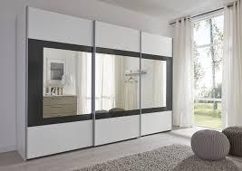 Schwebetürenschrank In Weißschwarz Mit Spiegel Navena29 Möbel