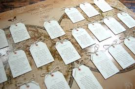 Vintage Style Word Map Wedding Table Plan By Ditsy Chic