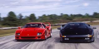 You can test drive a ferrari, it's not impossible. Tested 1992 Ferrari F40 Meets Lamborghini Diablo