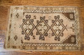 vintage small turkish oushak rug mat