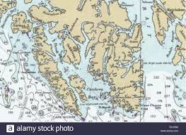 Upper Chesapeake Bay Chart Nautical Chart Stock Photos Nautical Chart Stock Images