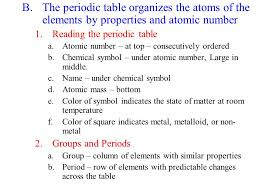 Atomic Structure and the Periodic Table II.Elements make up the ...