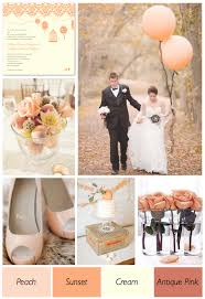 peach wedding colors. Peach And Cream Wedding Color Theme Weddings By Lilly
