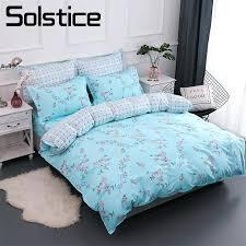 girls teal bedding solstice home textile cotton bedding sets light blue flower girls kid teen linen