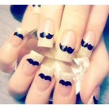 Decorative Nail Art Designs 100PCS New Nail Art Stickers Decal Cute Black Beard Water Stickers For 84