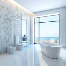 Minimalist Concept White Bathroom Tile Ideas