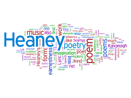 poetry versus prose a visual experiment robert peake wordle word cloud of an essay on seamus heaney