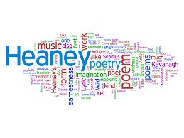 poetry versus prose a visual experiment robert peake wordle word cloud of an essay on seamus heaney