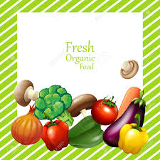 Vegetable Border Design Border Design With Fresh Vegetables Illustration