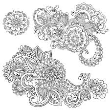 Henna Coloring Pages Property Mehndi Patterns Colouring Sheets