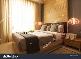 modern japanese style bedroom design. stock photo luury modern japanese style bedroom design