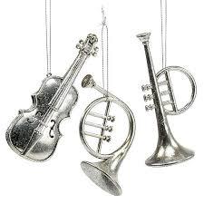 Musikinstrumente Sort 12cm 145cm Silber 3st