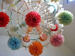 been famous already for months or years in the blog world but somehow have been invisible to me this pajaki polish paper chandelier for example