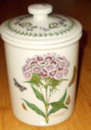 portmeirion botanic garden storage crock jar 8 75 sweet william flower canister portmeirion