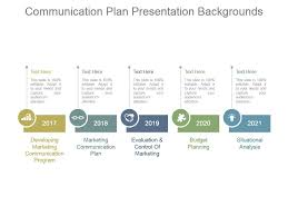 Planning A Presentation Template Communication Plan Presentation Backgrounds Powerpoint