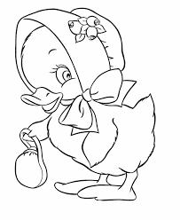 Image Detail For Easter Chick Coloring Pages Easter Bonnet Duck