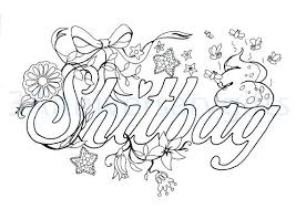 Swear Word Coloring Pages Printable Swear Word Coloring Pages