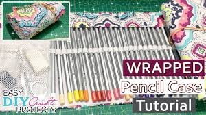 diy easy craft wrapped pencil case 72 slots tutorial