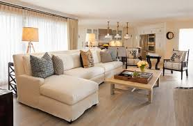living room decor with sectional. Slipcovered Sectional Living Room Decor With