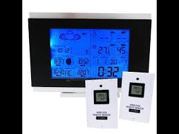 wireless indoor outdoor weather station thermometer 2 sensors