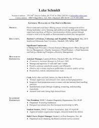 Resume Format Project Manager Lovely Cover Letter Kitchen Hand Cover