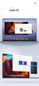 Mac Os X Web Design Apple Os Mac Os 2020 Redesign Edge To Edge Macbook On