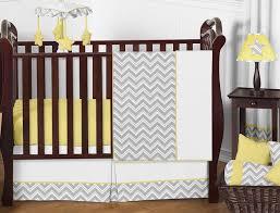gray and yellow chevron zig zag baby bedding 11pc crib set by sweet jojo designs only 62 99