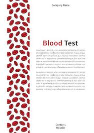 Report Cover Page Simple Blood Test Cover Page Vector Template Cover Layout For Annual