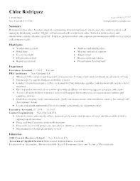Administrative Assistant Sample Resume Enchanting Executive Administrative Assistant Duties Resume For Example Of