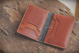 vintage custom made to order leather wallet virgo handmade leather hanoi