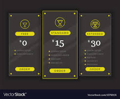 Pricing Table Comparison Chart Template