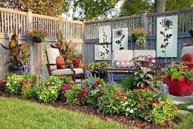 small space patio border garden gate