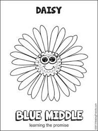 Small Picture Flower Friends Coloring Page daisy scouts Pinterest Flower