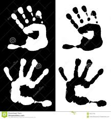 Palma Dei Bambini Dellacquerello In Bianco E Nero Illustrazione