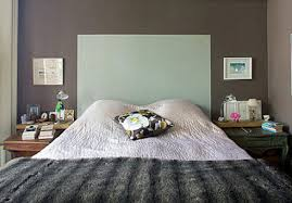 painted on headboards - headboard created by painting shape on a wall -  Living etc.