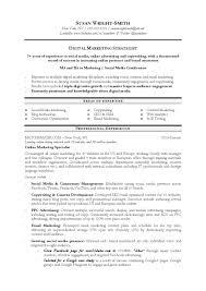 Cover Letter Marketing Sample Resume Digital Marketing Resume
